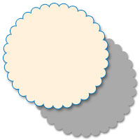 Couture Collection - Round Scallop 5x5